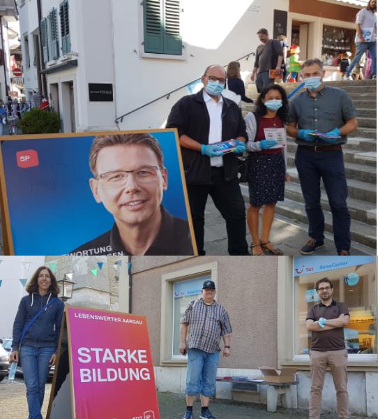 SP-Kandidaten, auf der Strasse