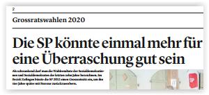 Wahlvorschau im Zofinger Tagblatt